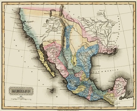 Mexico map 1823
