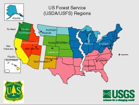 forest service region map - Www.baseballposse.us