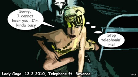 lady gaga telephone comic