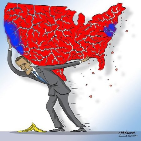 obama midterm election map cartoon