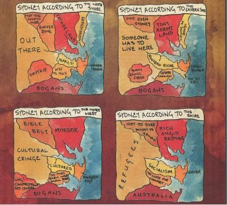 funny sidney australia map