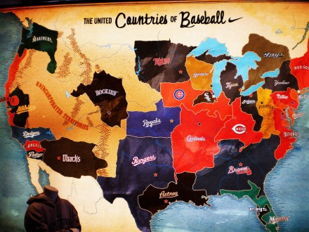 major League Baseball fans map