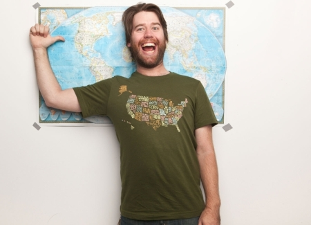 US Threadless T-shirt Map