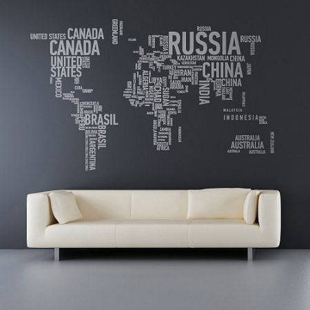 world word map