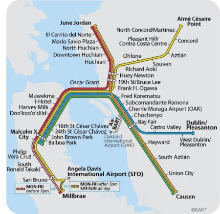 radical BART map